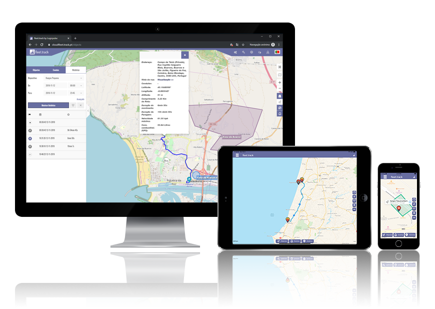 Advantages and benefits of the GPS fleet management system with WEB, android and ios fleettrack applications